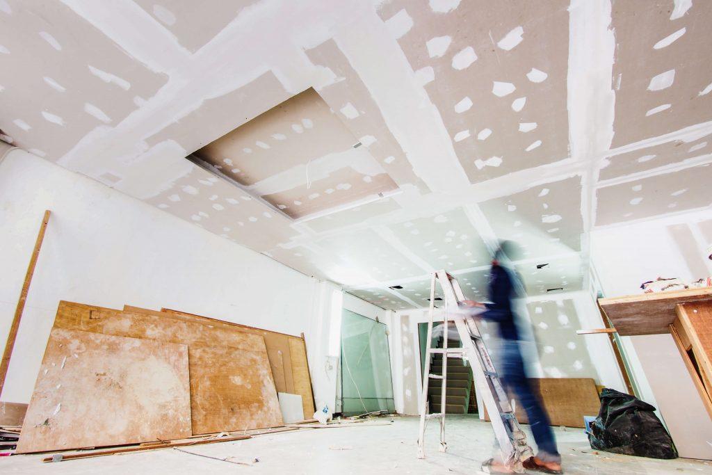 Livingroom plastering renovation