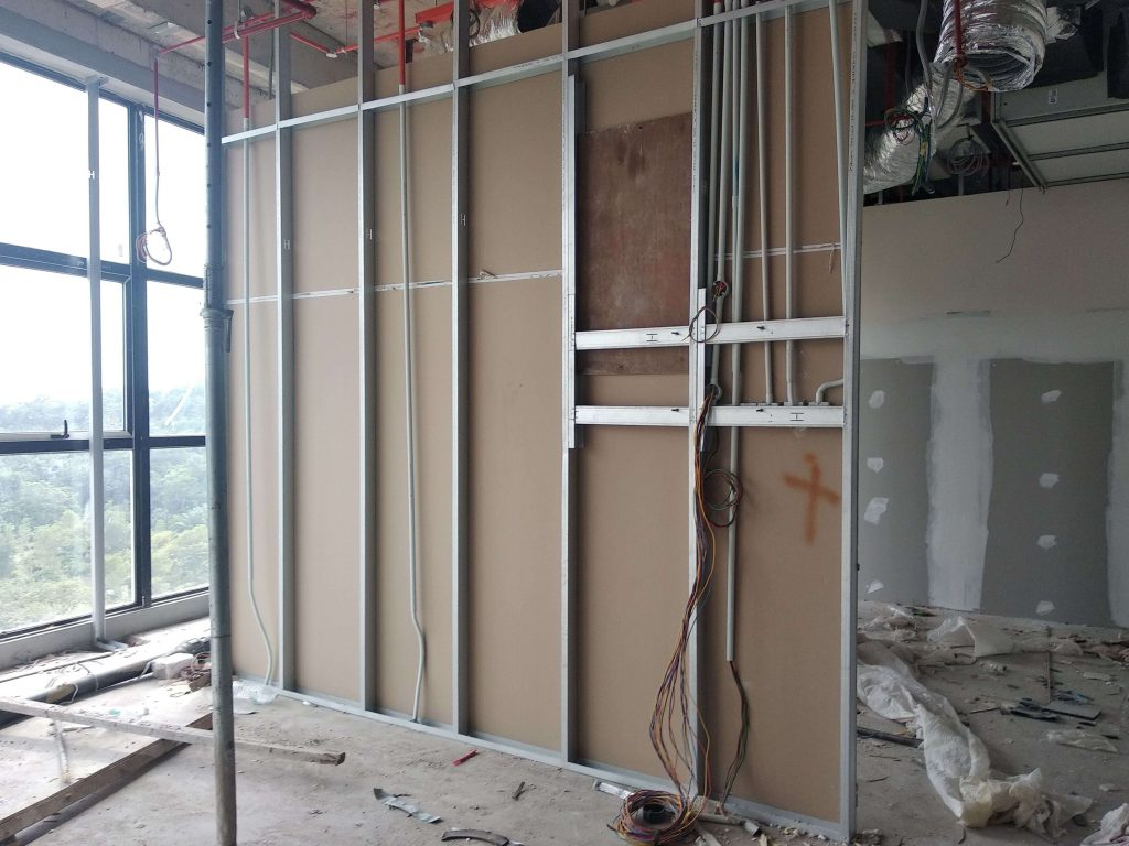 Office partition wall installation by PLasterboard Sydney